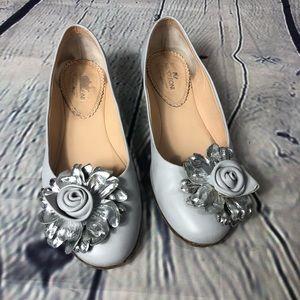 napoleoni gray flats shoes
